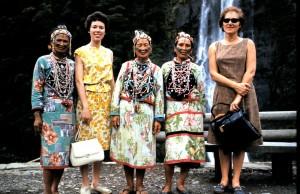 Taiwanese women with mom and grandma
