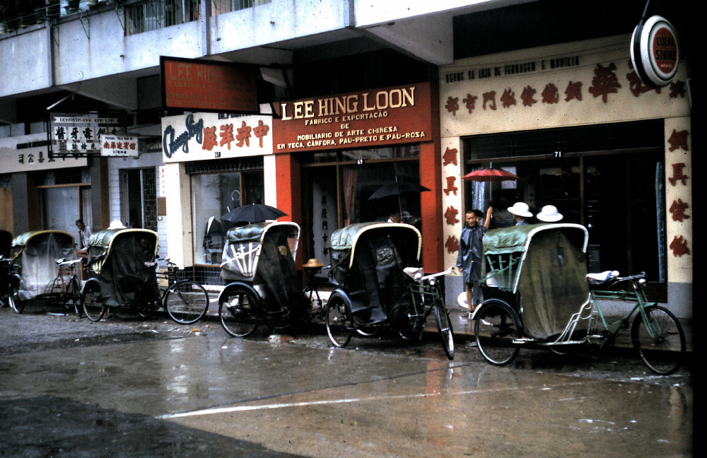 Pedicabs in Macau, 1965
