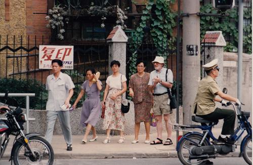 Dad on Shanghai street
