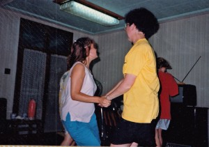 Dancing with Daphne at Shanghai farewell