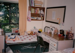 Window in dorm 1990