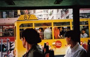 On a tram