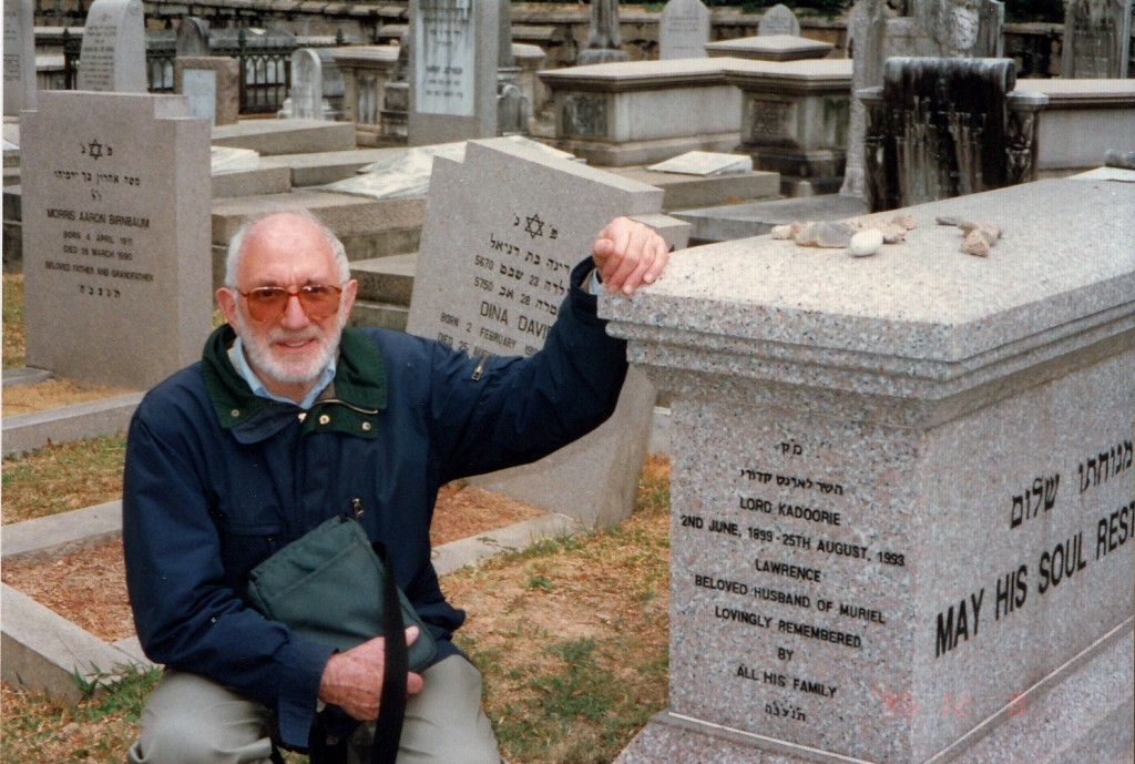 Dad at Jewish Cemetery in HK 1996