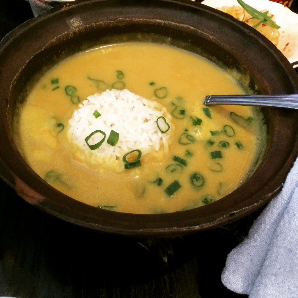 Curry congee