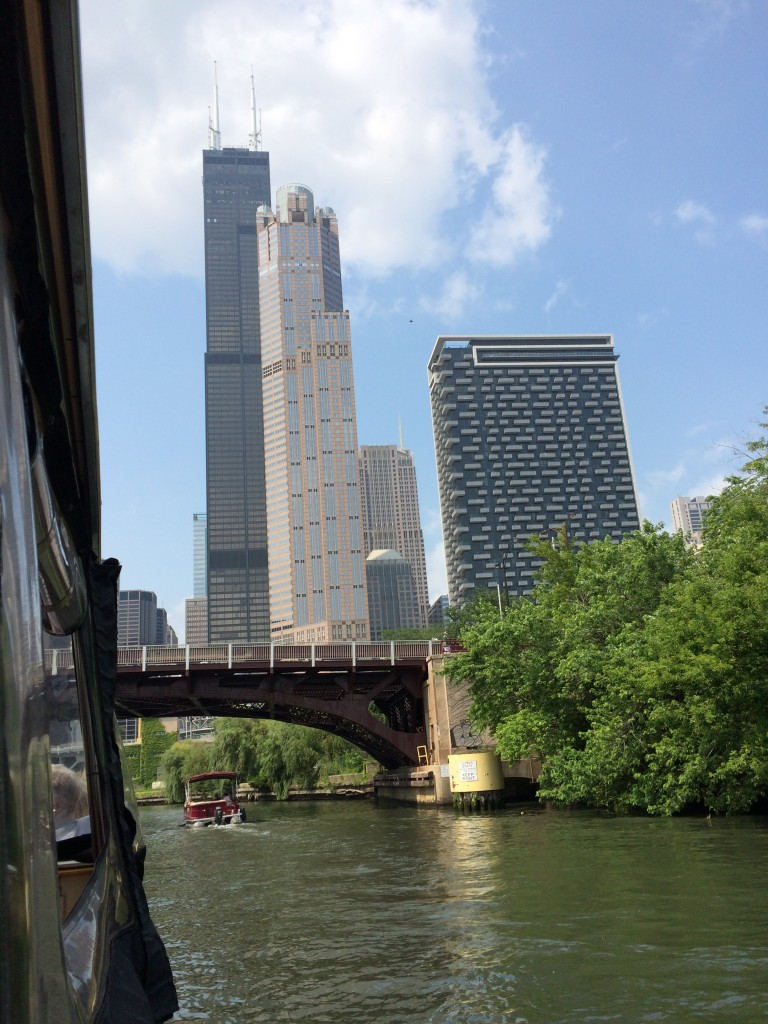 Sears Tower view from water taxi