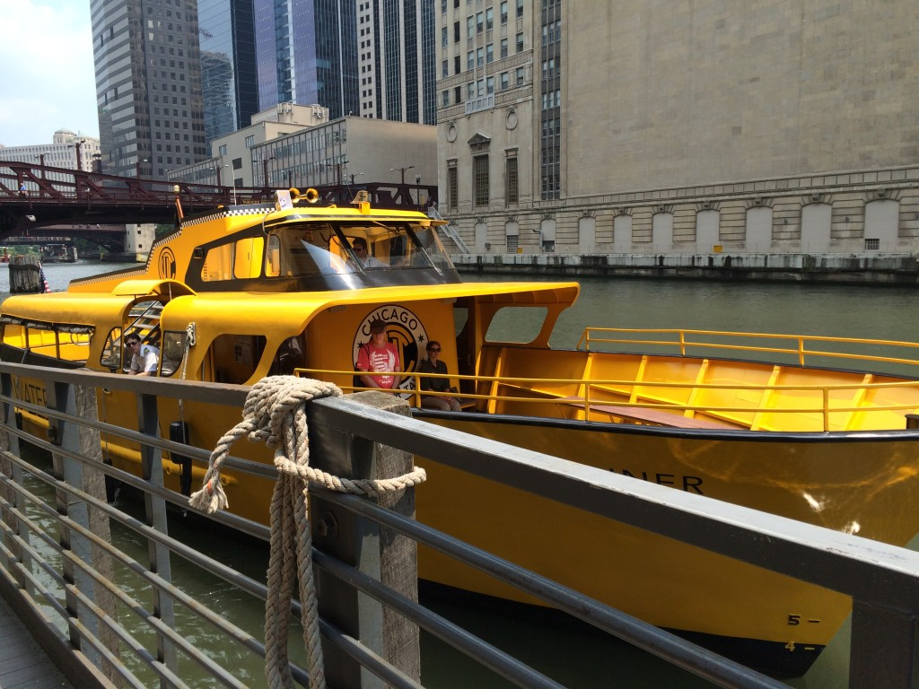 Water taxi to Chinatown