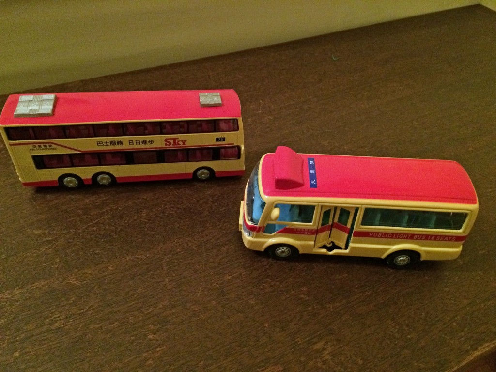 toy bus and minibus