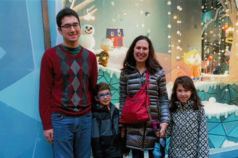 With my kids on a field trip with the seniors to see the Christmas windows at Macy's