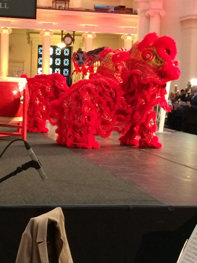 up close lion dance