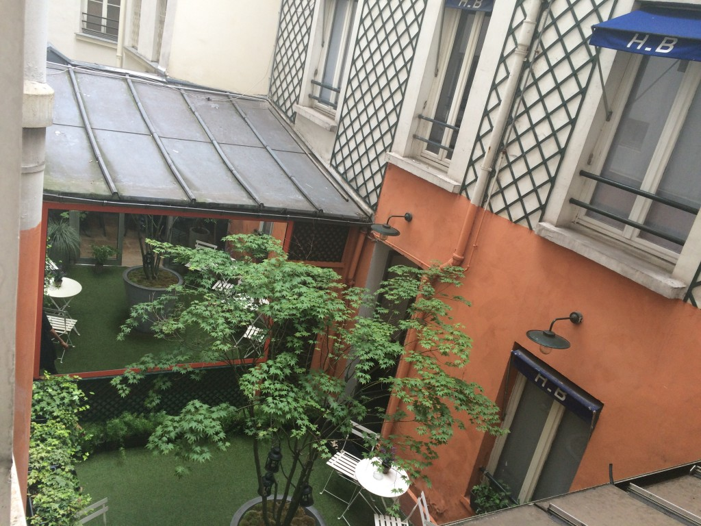Beaumarchais courtyard from our room
