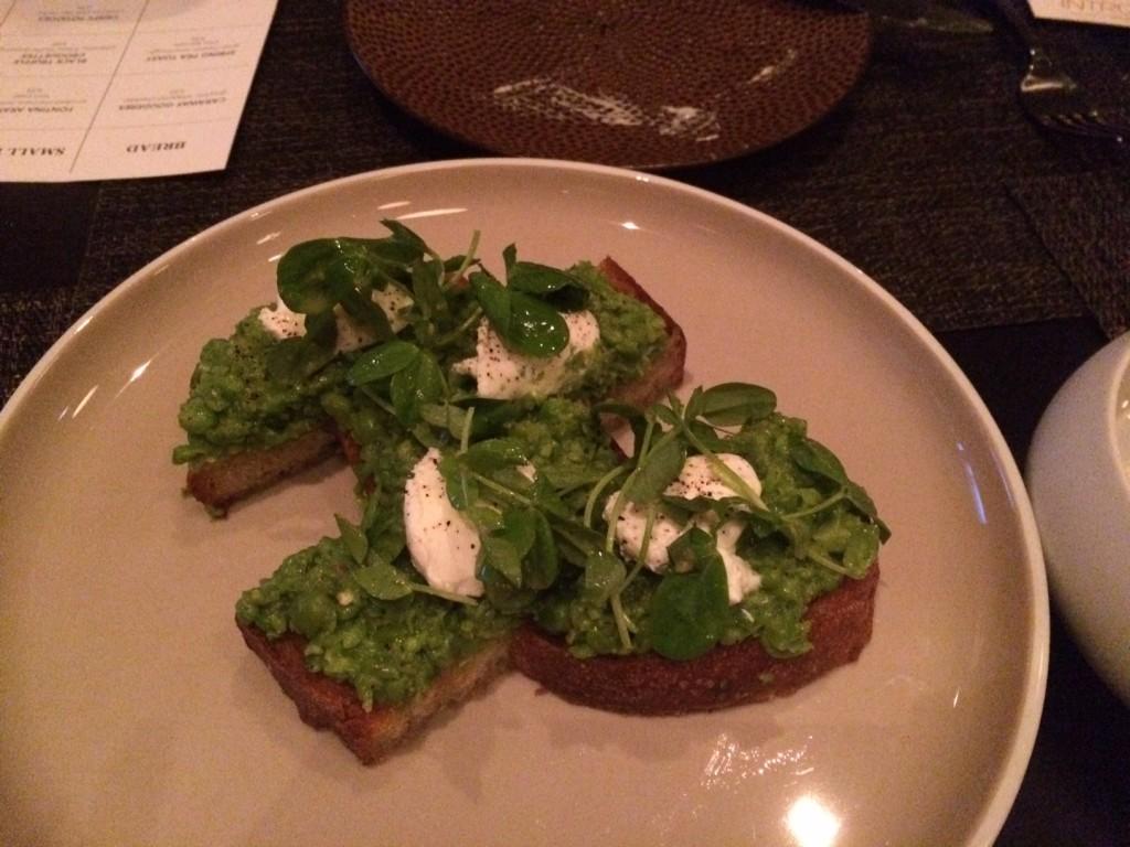 Intro pea leaf toast