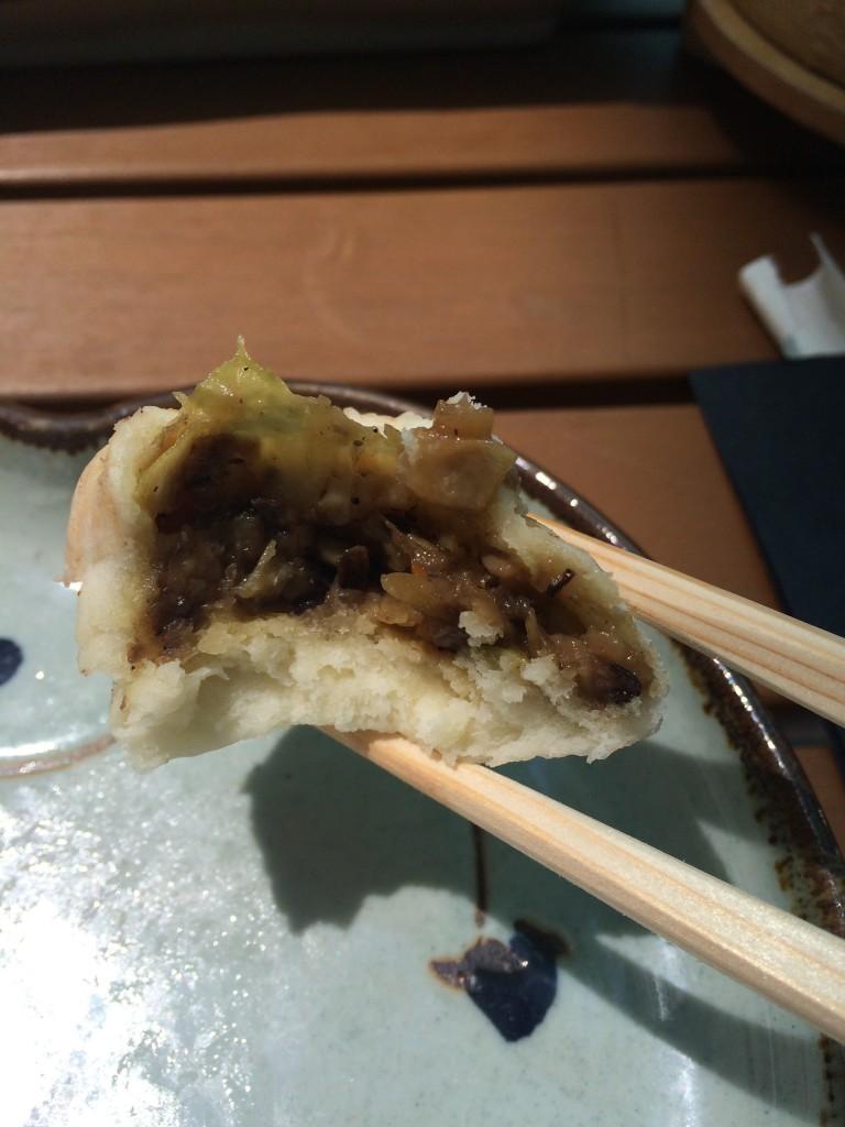 inside mushroom bao